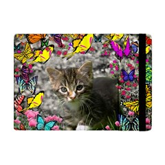 Emma In Butterflies I, Gray Tabby Kitten Apple Ipad Mini Flip Case by DianeClancy