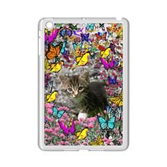 Emma In Butterflies I, Gray Tabby Kitten Ipad Mini 2 Enamel Coated Cases by DianeClancy