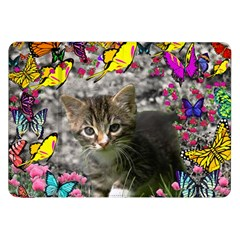 Emma In Butterflies I, Gray Tabby Kitten Samsung Galaxy Tab 8 9  P7300 Flip Case by DianeClancy