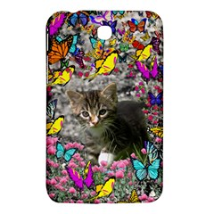 Emma In Butterflies I, Gray Tabby Kitten Samsung Galaxy Tab 3 (7 ) P3200 Hardshell Case  by DianeClancy