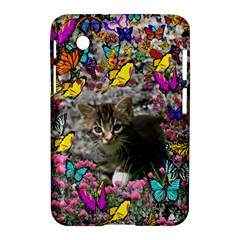 Emma In Butterflies I, Gray Tabby Kitten Samsung Galaxy Tab 2 (7 ) P3100 Hardshell Case  by DianeClancy