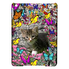 Emma In Butterflies I, Gray Tabby Kitten Ipad Air Hardshell Cases by DianeClancy