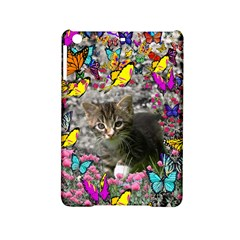 Emma In Butterflies I, Gray Tabby Kitten Ipad Mini 2 Hardshell Cases by DianeClancy