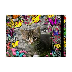 Emma In Butterflies I, Gray Tabby Kitten Ipad Mini 2 Flip Cases by DianeClancy