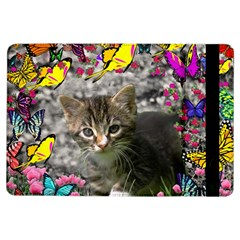Emma In Butterflies I, Gray Tabby Kitten Ipad Air Flip by DianeClancy