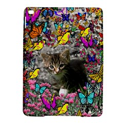 Emma In Butterflies I, Gray Tabby Kitten Ipad Air 2 Hardshell Cases by DianeClancy