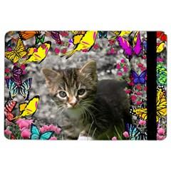 Emma In Butterflies I, Gray Tabby Kitten Ipad Air 2 Flip by DianeClancy