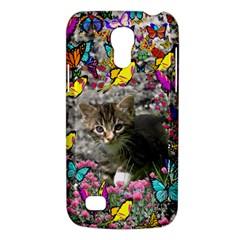 Emma In Butterflies I, Gray Tabby Kitten Galaxy S4 Mini by DianeClancy