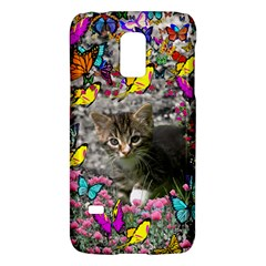 Emma In Butterflies I, Gray Tabby Kitten Galaxy S5 Mini by DianeClancy