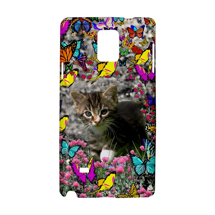 Emma In Butterflies I, Gray Tabby Kitten Samsung Galaxy Note 4 Hardshell Case