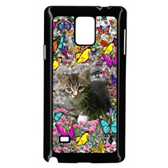Emma In Butterflies I, Gray Tabby Kitten Samsung Galaxy Note 4 Case (black) by DianeClancy