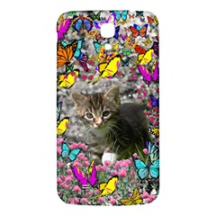 Emma In Butterflies I, Gray Tabby Kitten Samsung Galaxy Mega I9200 Hardshell Back Case by DianeClancy