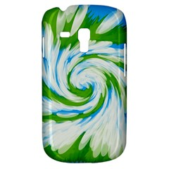 Tie Dye Green Blue Abstract Swirl Samsung Galaxy S3 Mini I8190 Hardshell Case by BrightVibesDesign
