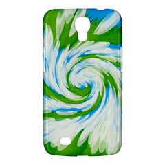 Tie Dye Green Blue Abstract Swirl Samsung Galaxy Mega 6 3  I9200 Hardshell Case by BrightVibesDesign