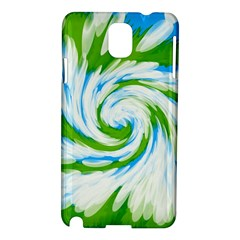 Tie Dye Green Blue Abstract Swirl Samsung Galaxy Note 3 N9005 Hardshell Case by BrightVibesDesign
