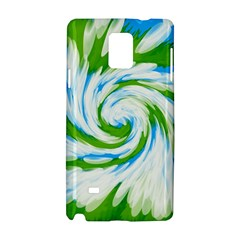 Tie Dye Green Blue Abstract Swirl Samsung Galaxy Note 4 Hardshell Case by BrightVibesDesign