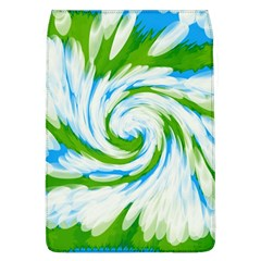 Tie Dye Green Blue Abstract Swirl Flap Covers (L)  by BrightVibesDesign