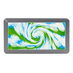 Tie Dye Green Blue Abstract Swirl Memory Card Reader (mini) by BrightVibesDesign