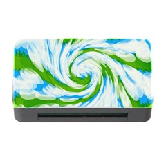 Tie Dye Green Blue Abstract Swirl Memory Card Reader With Cf by BrightVibesDesign