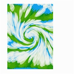 Tie Dye Green Blue Abstract Swirl Large Garden Flag (two Sides) by BrightVibesDesign