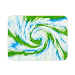 Tie Dye Green Blue Abstract Swirl Double Sided Flano Blanket (mini)  by BrightVibesDesign