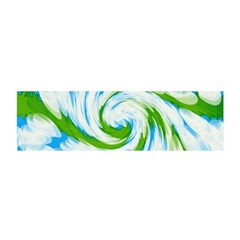 Tie Dye Green Blue Abstract Swirl Satin Scarf (oblong) by BrightVibesDesign