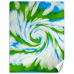 Tie Dye Green Blue Abstract Swirl Canvas 18  x 24   by BrightVibesDesign