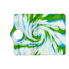 Tie Dye Green Blue Abstract Swirl Kindle Fire Hd (2013) Flip 360 Case by BrightVibesDesign