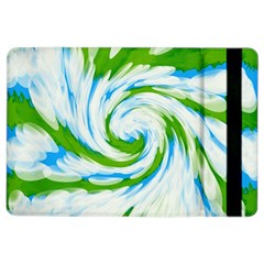 Tie Dye Green Blue Abstract Swirl Ipad Air 2 Flip by BrightVibesDesign