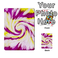 Tie Dye Pink Yellow Abstract Swirl Multi Purpose Cards (rectangle)  by BrightVibesDesign