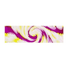 Tie Dye Pink Yellow Abstract Swirl Satin Scarf (oblong) by BrightVibesDesign