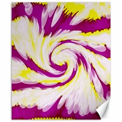 Tie Dye Pink Yellow Abstract Swirl Canvas 8  X 10  by BrightVibesDesign