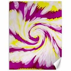 Tie Dye Pink Yellow Abstract Swirl Canvas 12  X 16   by BrightVibesDesign