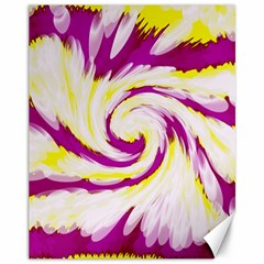 Tie Dye Pink Yellow Abstract Swirl Canvas 11  X 14   by BrightVibesDesign