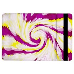 Tie Dye Pink Yellow Abstract Swirl Ipad Air 2 Flip by BrightVibesDesign