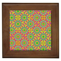 Modern Colorful Geometric Framed Tiles by dflcprints