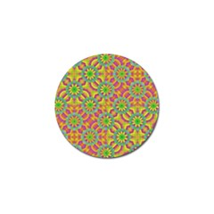 Modern Colorful Geometric Golf Ball Marker by dflcprints