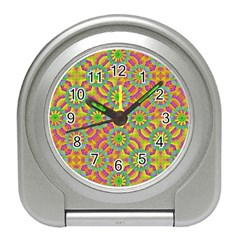 Modern Colorful Geometric Travel Alarm Clocks by dflcprints