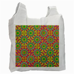 Modern Colorful Geometric Recycle Bag (one Side) by dflcprints