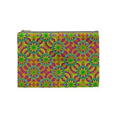 Modern Colorful Geometric Cosmetic Bag (medium)  by dflcprints