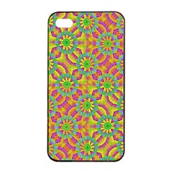 Modern Colorful Geometric Apple Iphone 4/4s Seamless Case (black) by dflcprints