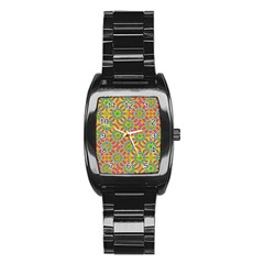 Modern Colorful Geometric Stainless Steel Barrel Watch by dflcprints
