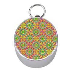Modern Colorful Geometric Mini Silver Compasses by dflcprints