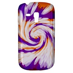Tie Dye Purple Orange Abstract Swirl Samsung Galaxy S3 Mini I8190 Hardshell Case by BrightVibesDesign