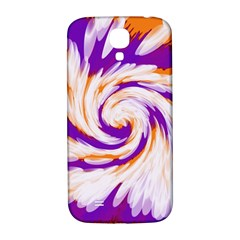 Tie Dye Purple Orange Abstract Swirl Samsung Galaxy S4 I9500/i9505  Hardshell Back Case by BrightVibesDesign