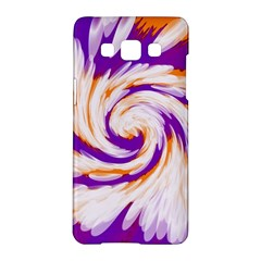 Tie Dye Purple Orange Abstract Swirl Samsung Galaxy A5 Hardshell Case  by BrightVibesDesign