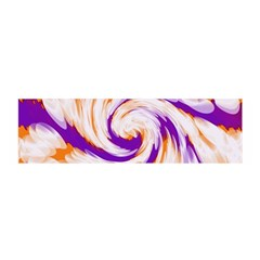 Tie Dye Purple Orange Abstract Swirl Satin Scarf (oblong) by BrightVibesDesign