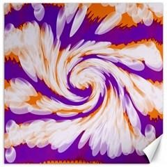 Tie Dye Purple Orange Abstract Swirl Canvas 20  X 20   by BrightVibesDesign