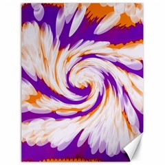 Tie Dye Purple Orange Abstract Swirl Canvas 18  X 24   by BrightVibesDesign