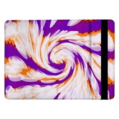 Tie Dye Purple Orange Abstract Swirl Samsung Galaxy Tab Pro 12.2  Flip Case by BrightVibesDesign